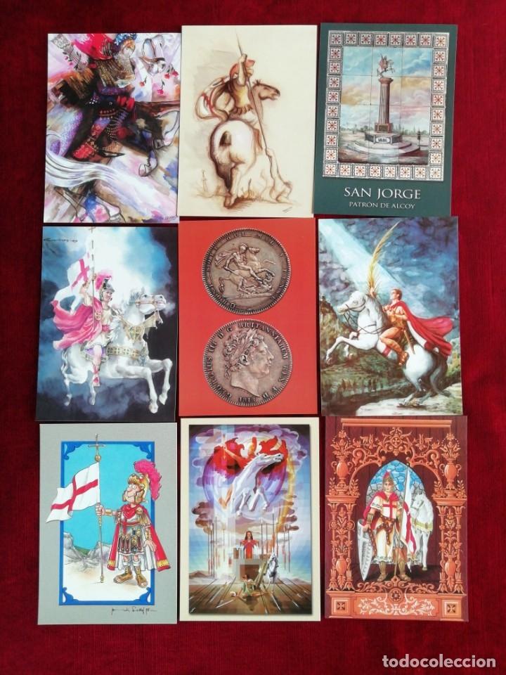 COLECCIÓN POSTALES SAN JORGE UNIVERSAL. SERIE 2. POSTALES 10-18. RBM (Postales - Postales Temáticas - Religiosas y Recordatorios)