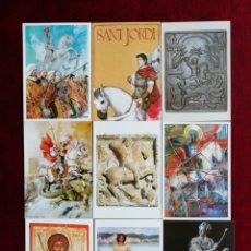 Postales: COLECCIÓN POSTALES SAN JORGE UNIVERSAL. SERIE 7. POSTALES 55-63. RBM. Lote 172299668
