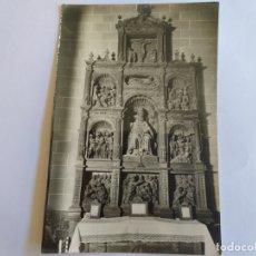Postales: ANTIGUA FOTO POSTAL DE ALBARRACIN (TERUEL) CATEDRAL, RETABLO DE SAN PEDRO. CIRCULADA. 1968.. Lote 172350568