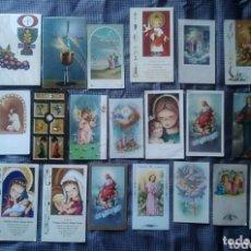 Postales: LOTE 25 ESTAMPAS RECUERDO RECORDATORIO COMUNION AÑOS 60. Lote 172366005