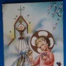 Postales: ESTAMPA RECUERDO RECORDATORIO COMUNION ILUSTRA NURIA BARO AÑO 1962 SERIE ESCOLAR 294. Lote 172407859