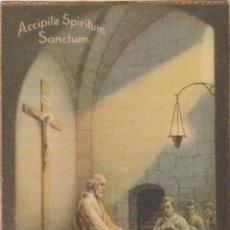Postales: ANTIGUA ESTAMPA RECORDATORIO PRIMERA MISA - JOSEPETS DE VILANOVA I LA GELTRÚ - 1939. Lote 172578607
