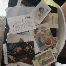 Postales: LOTE DE 30 RECORDATORIOS, ESTAMPAS, ETC MOTIVOS RELIGIOSAS. Lote 172890598