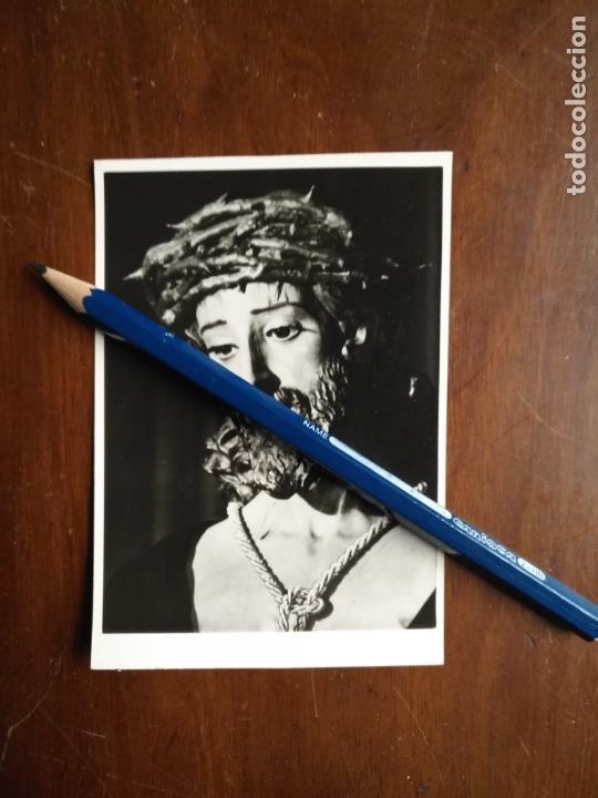 FOTOGRAFIA CRISTO DE LA SENTENCIA DE LA VIRGEN ESPERANZA MACARENA SEMANA SANTA SEVILLA 11X7,6 - 1968 (Postales - Postales Temáticas - Religiosas y Recordatorios)