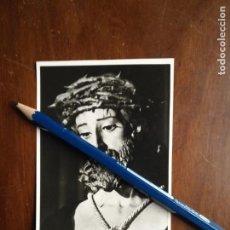 Postales: FOTOGRAFIA CRISTO DE LA SENTENCIA DE LA VIRGEN ESPERANZA MACARENA SEMANA SANTA SEVILLA 11X7,6 - 1968. Lote 173369173