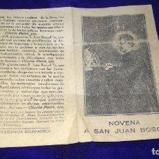 Postales: RECORDATORIO RELIGIOSO SAN JUAN BOSCO. Lote 173495370