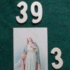 Postales: ESTAMPA RECORDATORIO SAGRADO CORAZON DE JESUS 1939. Lote 173550175