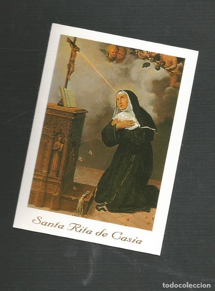 RECORDATORIO RELIGIOSO SANTA RITA DE CASIA (Postales - Postales Temáticas - Religiosas y Recordatorios)