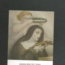 Postales: RECORDATORIO RELIGIOSO SANTA RITA DE CASIA. Lote 173682995