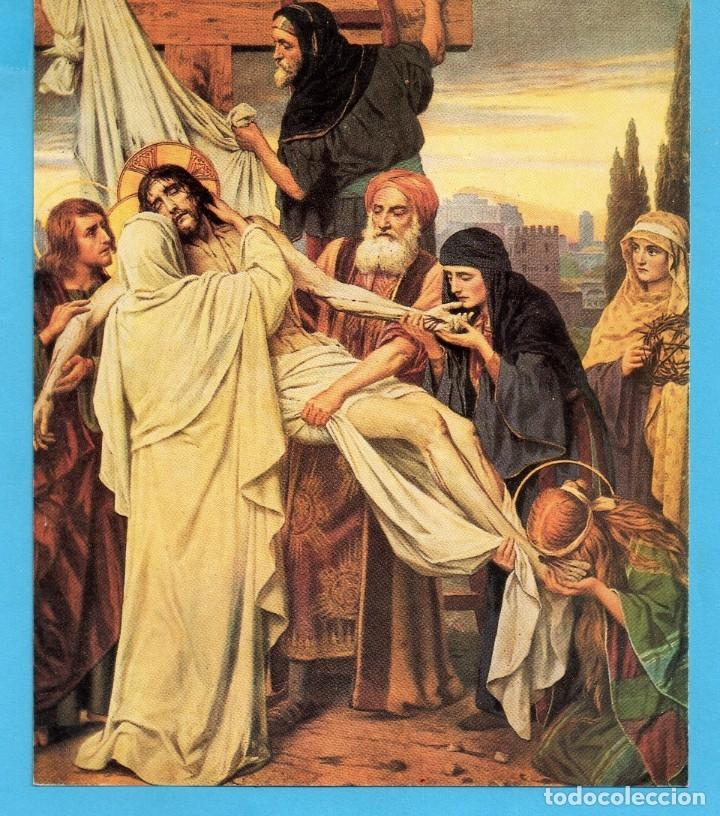 POSTAL RECORDATORIO DE SEMANA SANTA PARROQUIA DE LES PLANES 1996 (Postales - Postales Temáticas - Religiosas y Recordatorios)