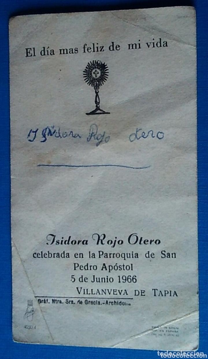 Postales: Estampa religiosa recuerdo recordatorio comunion ilustra ferrandiz 1966 - Foto 2 - 173908980