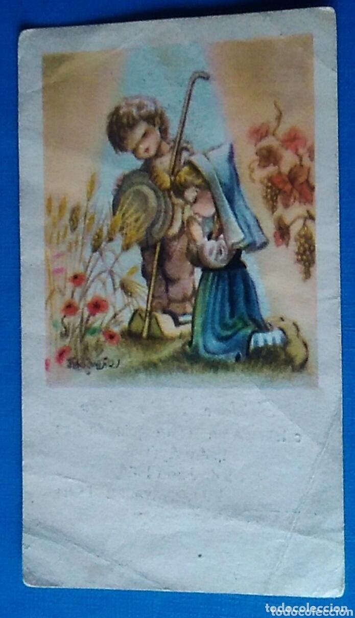 ESTAMPA RELIGIOSA RECUERDO RECORDATORIO COMUNION ILUSTRA FERRANDIZ 1966 (Postales - Postales Temáticas - Religiosas y Recordatorios)