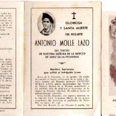 Postales: REQUETÉ ANTONIO MOLLE LAZO DE JEREZ DE LA FRONTERA - GUERRA CIVIL. Lote 174287949