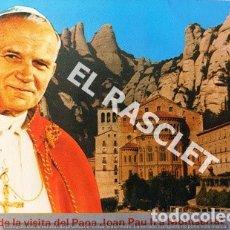 Postales: ANTIGUA POSTAL COLOR DE LA VISITA DEL PAPA JOAN PAU II A MONTSERRAT 1982. Lote 174493959