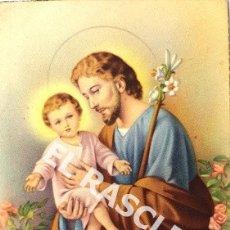 Postales: ANTIGUA POSTAL RELIGIOSA EN COLOR DE SAN JOSE FECHADA 1948. Lote 174588794