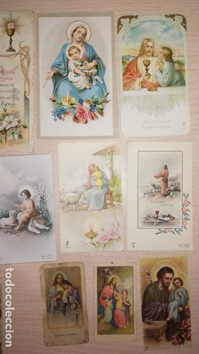 Postales: LOTE RECORDATORIOS RELIGIOSOS - Foto 2 - 175032210