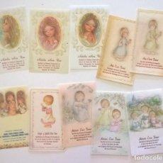 Postales: LOTE DE 10 ESTAMPAS RELIGIOSAS - RECORDATORIOS COMUNIÓN - AÑOS 1982,1984,1985 Y 1987. Lote 175075854