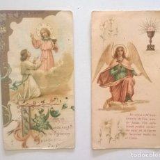 Postales: LOTE DE DOS ESTAMPAS ANTIGUAS - RECORDATORIOS DE COMUNIÓN - AÑO 1930. Lote 175075987