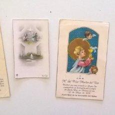 Postales: LOTE DE 4 ESTAMPAS - RECORDATORIOS ANTIGUOS DE COMUNIÓN - AÑOS 1956,1957 Y 1958. Lote 175076124