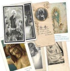 Postales: LOTE 8 RECORDATORIOS DE ALCOY (ALICANTE) MUY ANTIGUOS - COMUNIONES, FALLECIMIENTOS Y CELEBRACIONES. Lote 175126439