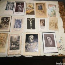 Postales: LOTE DE ESTAMPAS RELIGIOSAS ANTIGUAS. Lote 175390240