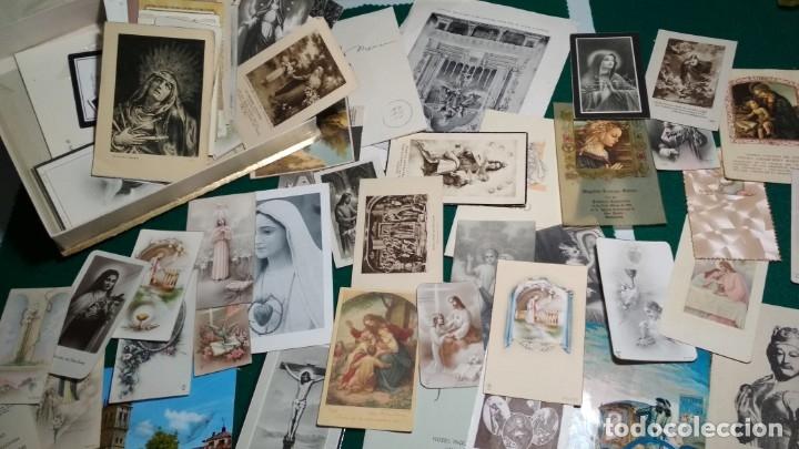 LOTE DE MAS DE 100 ESTAMPAS Y RECORDATORIOS VARIOS AÑOS DESDE LOS AÑOS 20-30 (Postales - Postales Temáticas - Religiosas y Recordatorios)