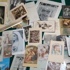 Postales: LOTE DE MAS DE 100 ESTAMPAS Y RECORDATORIOS VARIOS AÑOS DESDE LOS AÑOS 20-30. Lote 175457794