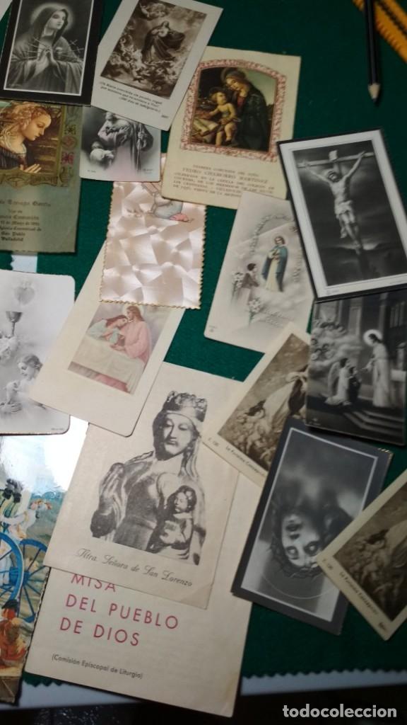 Postales: LOTE DE MAS DE 100 ESTAMPAS Y RECORDATORIOS VARIOS AÑOS DESDE LOS AÑOS 20-30 - Foto 2 - 175457794