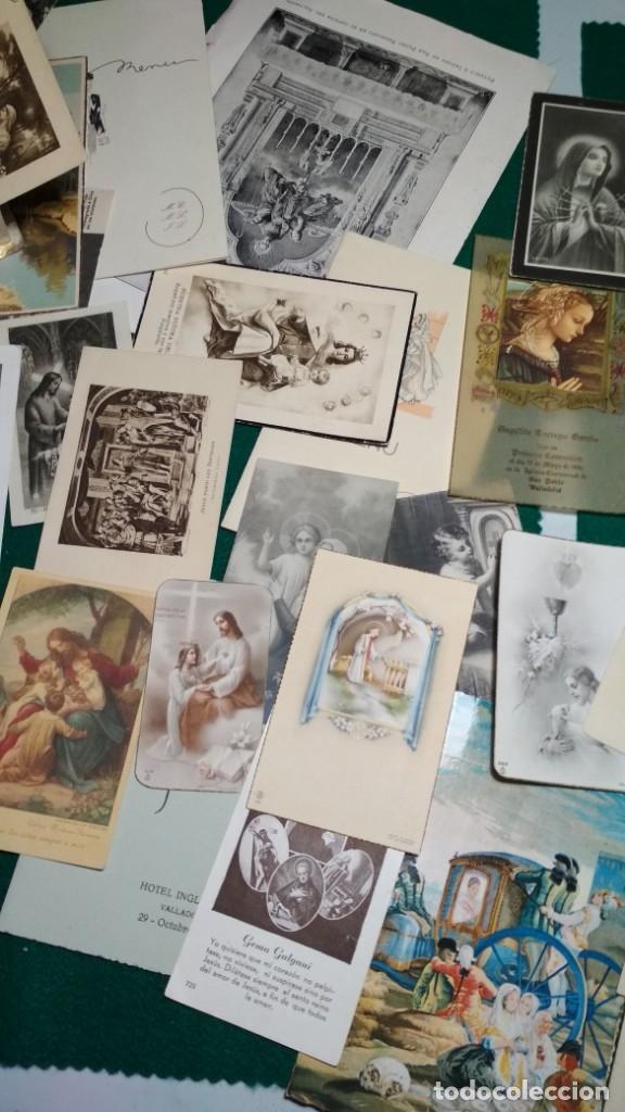 Postales: LOTE DE MAS DE 100 ESTAMPAS Y RECORDATORIOS VARIOS AÑOS DESDE LOS AÑOS 20-30 - Foto 3 - 175457794