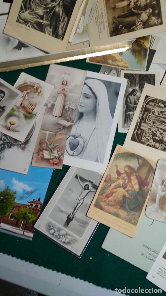 Postales: LOTE DE MAS DE 100 ESTAMPAS Y RECORDATORIOS VARIOS AÑOS DESDE LOS AÑOS 20-30 - Foto 4 - 175457794