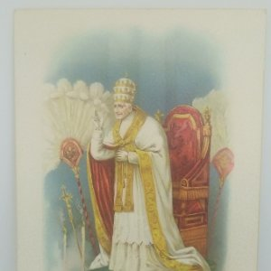 Postal satinada pontifice