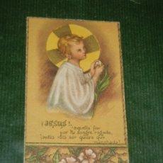 Postales: ANTIGUA ESTAMPA JESUS NIÑO. Lote 176148295