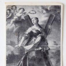 Postales: RECORDATORIO SANTA EULARIA DE BARCELONA. HIMNO PARTE POSTERIOR, DE GUILLEM COLOM.. Lote 176188584