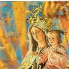 Postales: NUESTRA SRA DEL CARMEN *** PATRONA DE MARINA *** POSTAL HOLOFRÁFICA ESCUDO DE ORO. Lote 12835831
