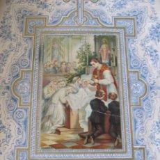 Postales: GRAN ESTAMPA RECORDATORIO PRIMERA COMUNIÓN 1889. Lote 176315094