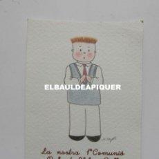 Postales: ESTAMPA RECORDATORI PRIMERA COMUNIO. DIBUIX M. URGELL. CCTT. Lote 176369804