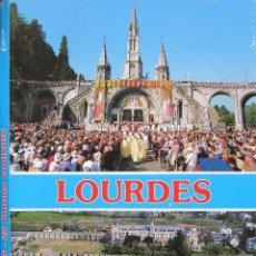 Postales: DESPLEGABLE FOTOGRÁFICO DE LOURDES CON 25 FOTOS A COLOR . Lote 176510064