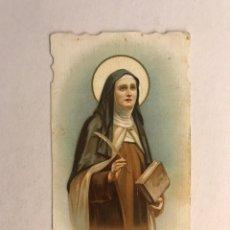 Postales: SANTA TERESA DE JESÚS. ESTAMPA RELIGIOSA TROQUELADA COLOREADA... (H.1940?),. Lote 176525382
