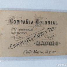 Cartes Postales: ESTAMPA DE SAN PEDRO, PUBLICIDAD FÁBRICA DE CHOCOLATES, CAFES Y TÉS COMPAÑIA COLONIAL, MADRID. Lote 176977925