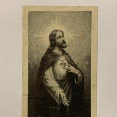 Postales: ESTAMPA RELIGIOSA SAGRADO CORAZÓN DE JESUS. . Lote 177035980