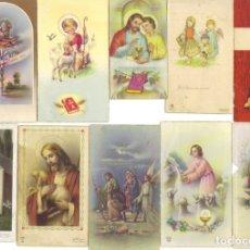 Postales: LOTE DE 24 ESTAMPITAS DE COMUNIÓN ANTIGUAS (1946-1967). Lote 177127569