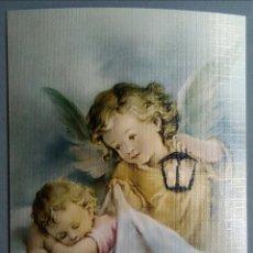 Postales: BONITA POSTAL ANGEL CON NIÑO / 15 X 10 CM. Lote 177128657