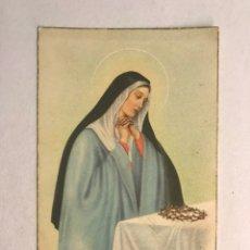 Postales: SANTA RITA O MATER DOLOROSA?? POSTAL RELIGIOSA NO.198. EDITA: PABLO DUMMATZEN? (H.1950?). Lote 177218344