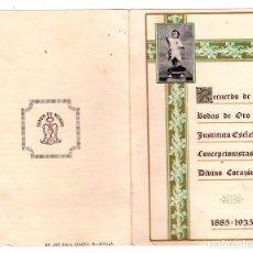 Postales: RECUERDO BODAS DE ORO INSTITUTO ESCLAVAS AÑO 1935 SEVILLA. Lote 177218759