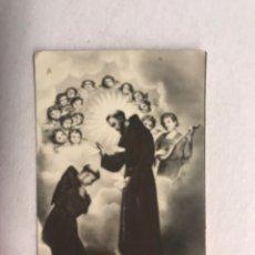 Postales: BENDICIÓN DE SAN FRANCISCO. ESTAMPA FOTOGRAFÍCA DE PEQUEÑO TAMAÑO (H.1960?). Lote 177269142