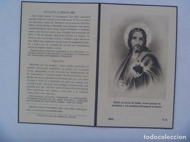 RECORDATORIO DE SEÑORA MARQUESA. FALLECIDA EN MADRID EN 1948 (Postales - Postales Temáticas - Religiosas y Recordatorios)