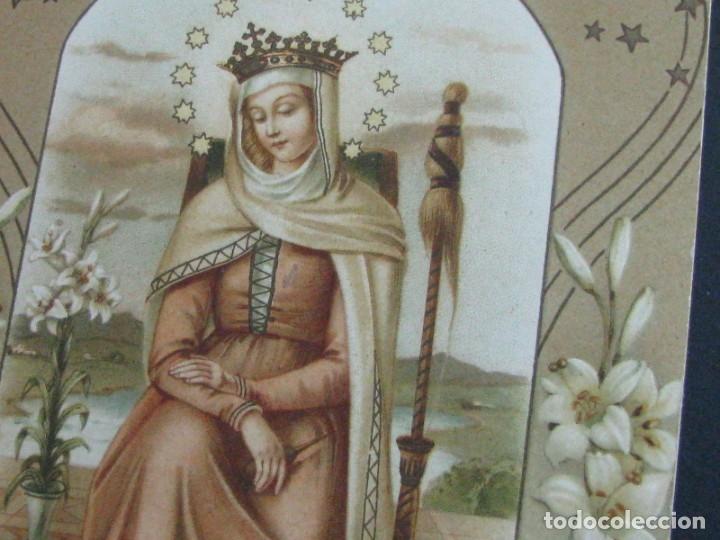 Postales: POSTAL RELIGIOSA CROMOLITOGRAFÍA CON RELIEVES Y DORADOS. ALCOY 1928 - Foto 2 - 177561177