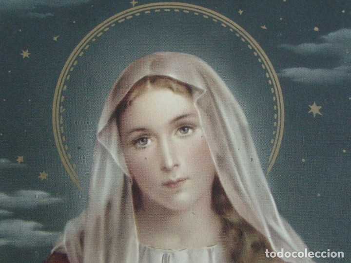 Postales: POSTAL RELIGIOSA DE CALIDAD CON DORADOS INMACULADO CORAZON DE JESUS. - Foto 2 - 177566779