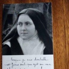 Postales: ORACIÓN EN FRANCÉS A SANTA TERESA DE JESÚS.. Lote 197747023
