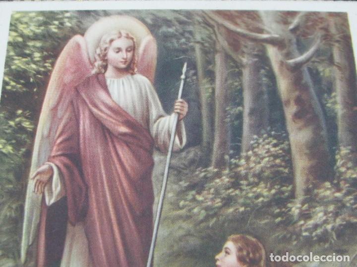 Postales: POSTAL RELIGIOSA SAN RAFAEL ARCÁNGEL. BORDES DORADOS principios de siglo XX - Foto 2 - 177673012